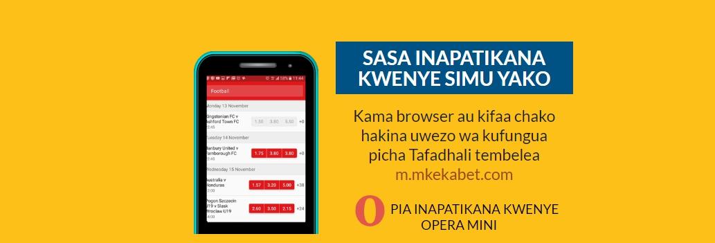 Mkekabet mobile version