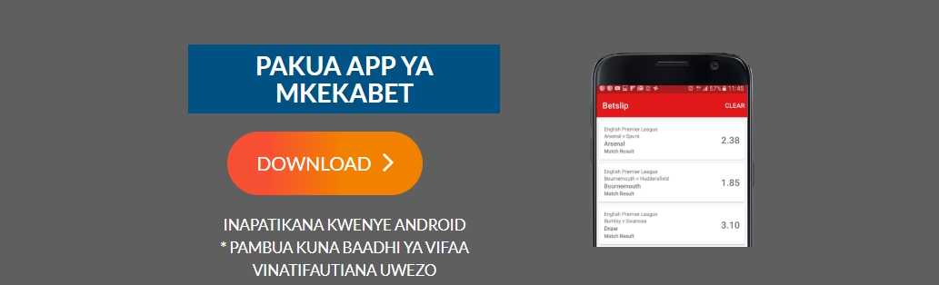 Mkekabet mobile app for Android