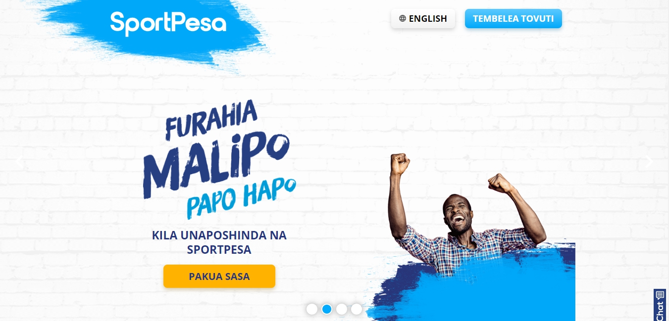 SportPesa bookmaker's website